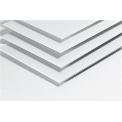 Plaque styrène blanc
