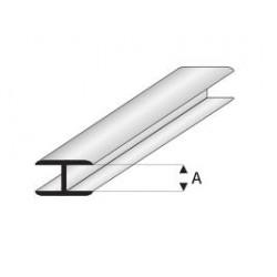 Profilé styrène en H - 33 cm